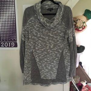 Lightweight cowl neck sweater